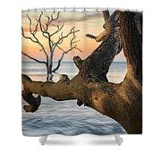 Charleston South Carolina Boneyard Beach Sunrise Scene  Shower Curtain