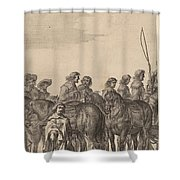 Entry Of Marie De Medici Into Amsterdam [plate 5 Of 6] Shower Curtain