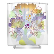 Enviro-web Florescence II Shower Curtain