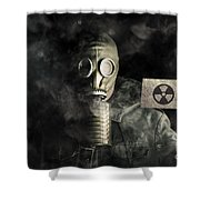 Nuclear Threat Shower Curtain