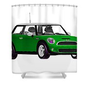 Envy Green Mini Cooper Shower Curtain