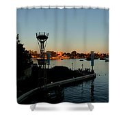 Epcot At Dusk Shower Curtain