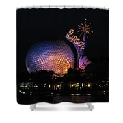 Epcot At Night II Shower Curtain