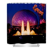 Epcot At Night Shower Curtain