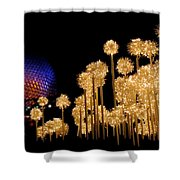 Epcot Christmas Night Shower Curtain