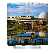 Epcot - Disney World Shower Curtain by Michael Tesar