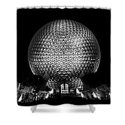 Epcot In Black And White Shower Curtain