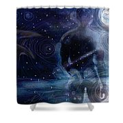 Ephemeral And Illusionary Existence Shower Curtain