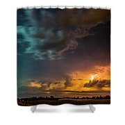 Epic Nebraska Lightning 008 Shower Curtain