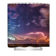 Epic Nebraska Lightning 009 Shower Curtain