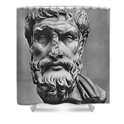 Epicurus (342?-270 B.c.) Shower Curtain