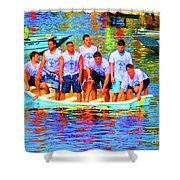 Epiphany Boys Shower Curtain