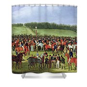 Epsom Races - The Betting Post Shower Curtain