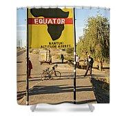 Equator In Kenya Shower Curtain