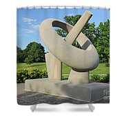 Equatorial Sundial Crown Hill Cemetery Indianapolis Shower Curtain
