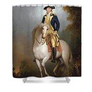 Equestrian Portrait Of George Washington Shower Curtain