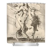 Equestrian Portrait Of Louis Xiii Of France Shower Curtain
