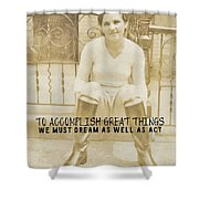Equestrian Quote Shower Curtain