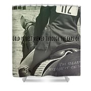 Equitation Quote Shower Curtain