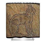 Eqyptian Cat Relief Shower Curtain