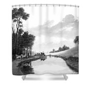 Erie Canal, 1837 Shower Curtain