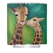 Erina's Giraffes Shower Curtain