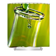 Erlenmeyer Flask In Science Research Lab Shower Curtain