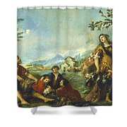 Erminia And The Shepherds Shower Curtain