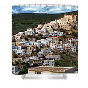 Ermoupoli Cityscape Shower Curtain