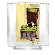 Ernie And Green Chair Shower Curtain