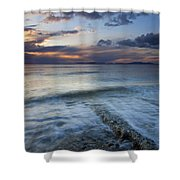 Eroded By The Tides Shower Curtain