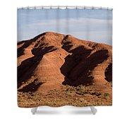 Eroded Hills In Sunset Light Shower Curtain