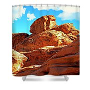 Eroded Red Sandstone Shower Curtain