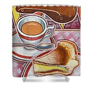 Eroica Britannia And Bakewell Pudding On Pink Shower Curtain