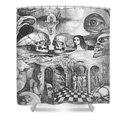 Eros Thanatos II Shower Curtain