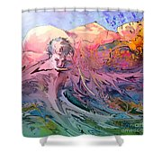 Eroscape 10 Shower Curtain