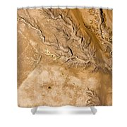 Erosive Patterns Are Emerging Shower Curtain