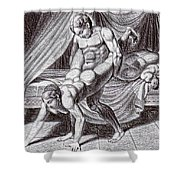 Erotic Drawing Six Shower Curtain