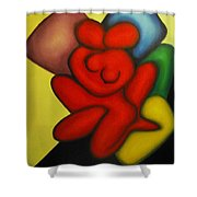 Erotic Embrace Shower Curtain