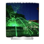 Eruption Of Green Waters, Sofia Shower Curtain