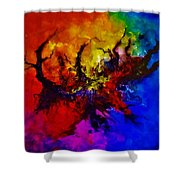 Eruptive Force Shower Curtain