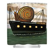 Es Cargo Shower Curtain