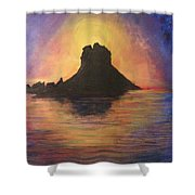 Es Vedra Sunset I Shower Curtain
