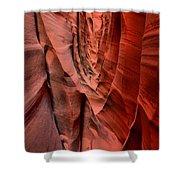 Escalante Red Slot Shower Curtain