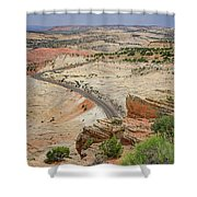 Escalante River Basin Shower Curtain