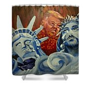 Escape On Tears Of Love And Liberty Shower Curtain by Saundra Johnson