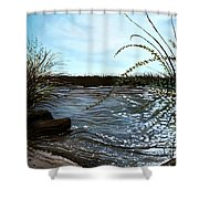 Escape With Me Shower Curtain