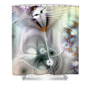 Escaping The Fires Of Consequence Shower Curtain