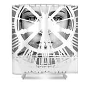 Escaping With Time  Shower Curtain