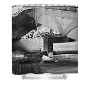 Escher Bridge Shower Curtain